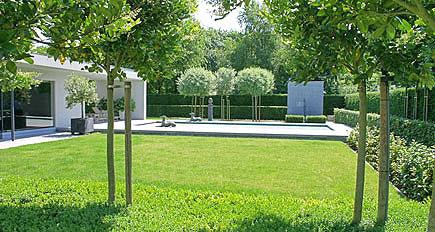 Onderhoudsvriendelijke Tuin Zwembad : Bloementuin ontwerp tuinen